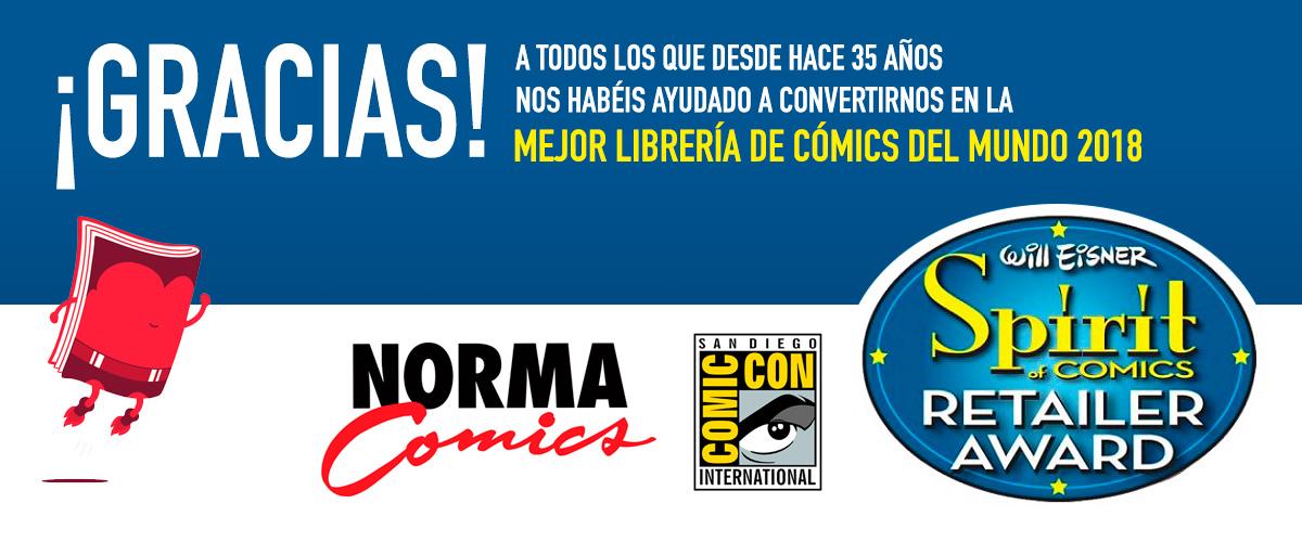 NORMA COMICS CELEBRA SU 35 ANIVERSARIO CON EL WILL EISNER SPIRIT OF COMIC RETAILER AWARD