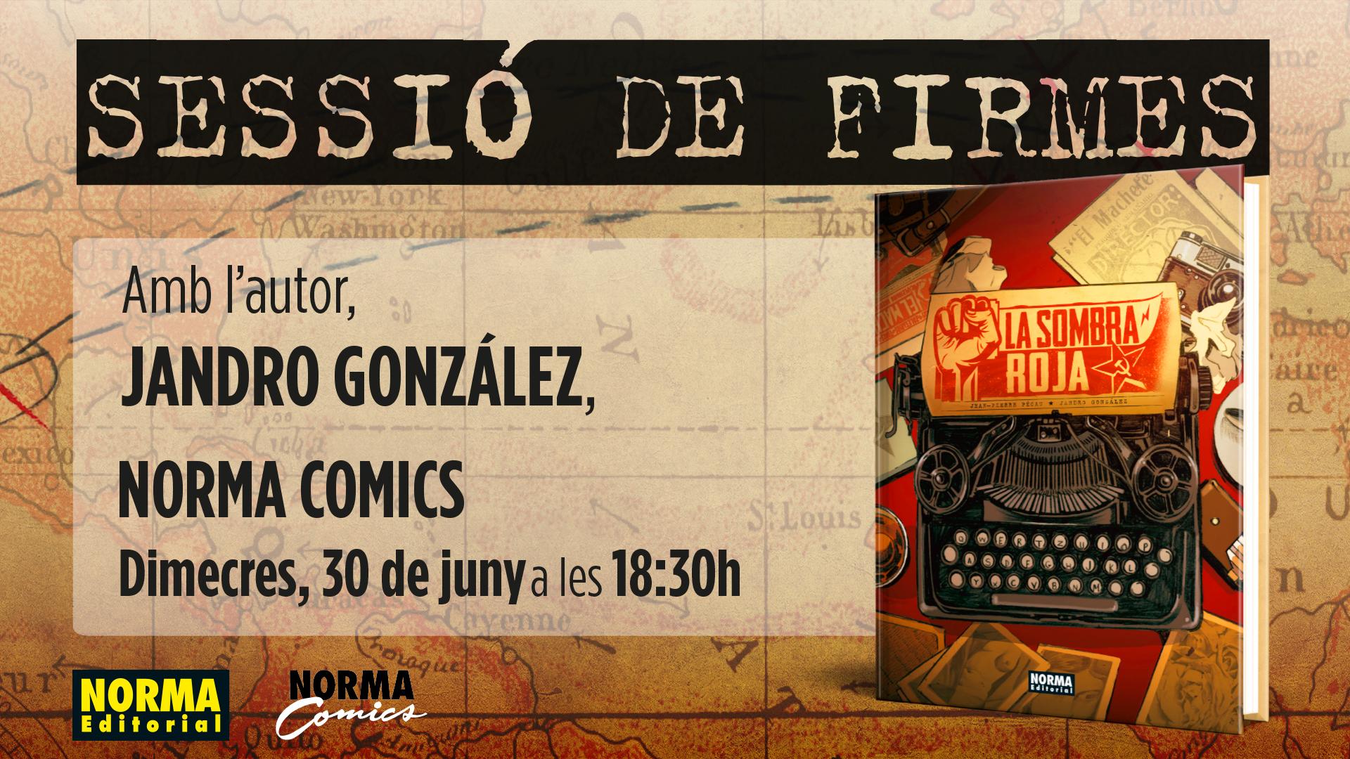 Sesión de Firmas con Jandro González, autor de La sombra roja